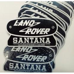 Chapa emblema LR Santana