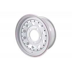 Llanta modular acero blanca
